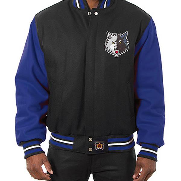お取り寄せ NBA ティンバーウルブズ メンズ ドメスティック ツートーン ウール ジャケット JH デザイン/JH Design ブラック