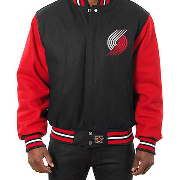 お取り寄せ NBA トレイルブレイザーズ メンズ ドメスティック ツートーン ウール ジャケット JH デザイン/JH Design ブラック