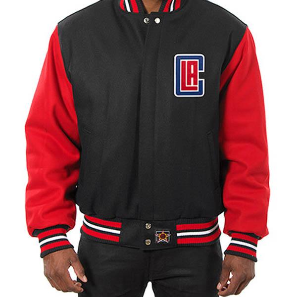 お取り寄せ NBA クリッパーズ メンズ ドメスティック ツートーン ウール ジャケット JH デザイン/JH Design ブラック