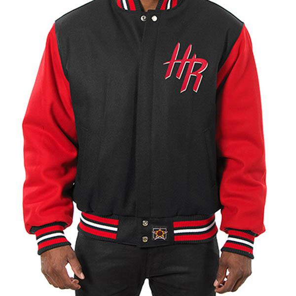 お取り寄せ NBA ロケッツ メンズ ドメスティック ツートーン ウール ジャケット JH デザイン/JH Design ブラック