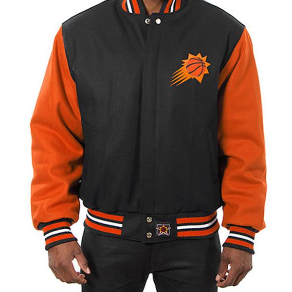 お取り寄せ NBA サンズ メンズ ドメスティック ツートーン ウール ジャケット JH デザイン/JH Design ブラック