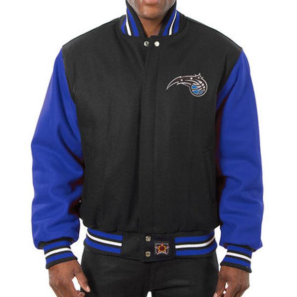 お取り寄せ NBA マジック メンズ ドメスティック ツートーン ウール ジャケット JH デザイン/JH Design ブラック