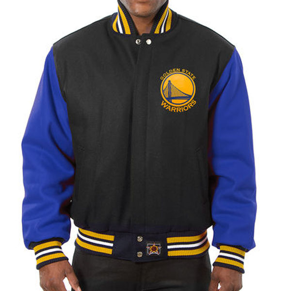 お取り寄せ NBA ウォリアーズ メンズ ドメスティック ツートーン ウール ジャケット JH デザイン/JH Design ブラック