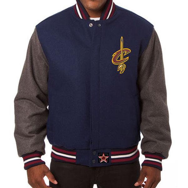 お取り寄せ NBA キャバリアーズ メンズ ドメスティック ツートーン ウール ジャケット JH デザイン/JH Design ネイビー