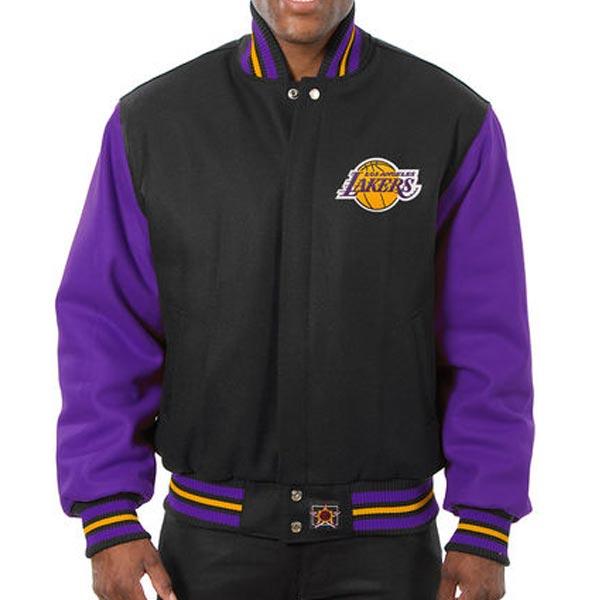お取り寄せ NBA レイカーズ メンズ ドメスティック ツートーン ウール ジャケット JH デザイン/JH Design Black -