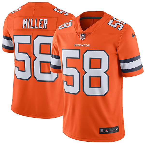 NFL ブロンコス ボン・ミラー カラーラッシュ リミテッド プレーヤー ユニフォーム/ユニホーム ナイキ/Nike オレンジ