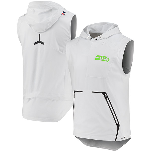 NFL シーホークス カラーラッシュ アルファ フライ フーデッド パフォーマンス ベスト ナイキ/Nike ホワイト