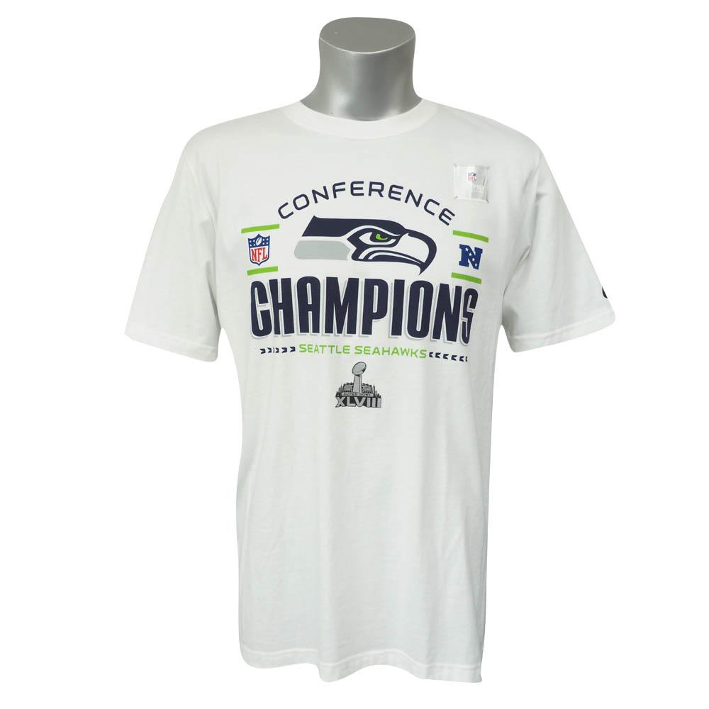 NFL シーホークス 2013 NFC チャンピオン トロフィー ロッカールーム Tシャツ ナイキ/Nike ホワイト レアアイテム