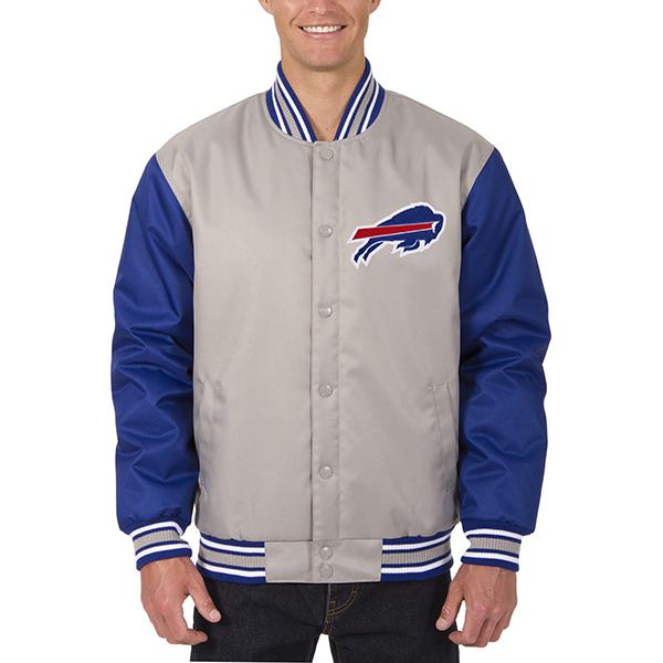 お取り寄せ NFL ビルズ メンズ ポリツイル ジャケット JH デザイン/JH Design グレー