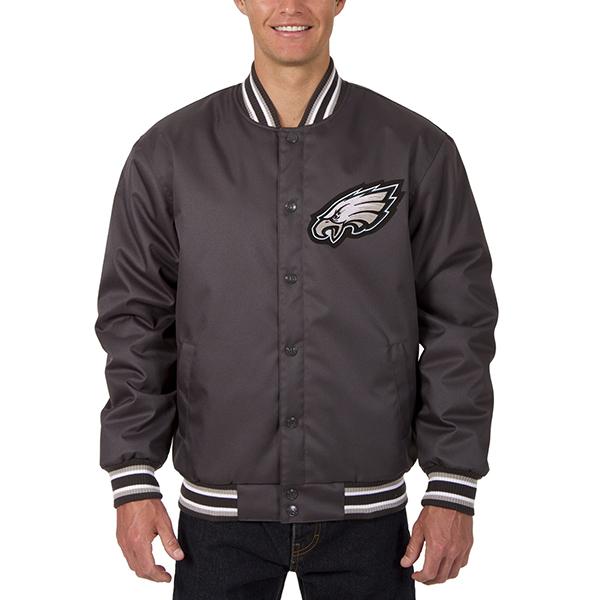 NFL イーグルス メンズ ポリツイル ジャケット JH デザイン/JH Design チャコール