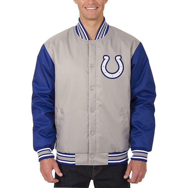 NFL コルツ メンズ ポリツイル ジャケット JH デザイン/JH Design グレー