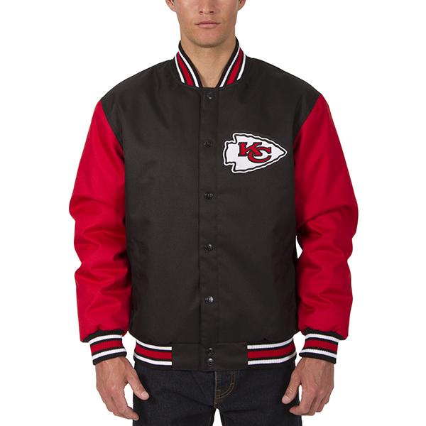 NFL チーフス メンズ ポリツイル ジャケット JH デザイン/JH Design ブラック
