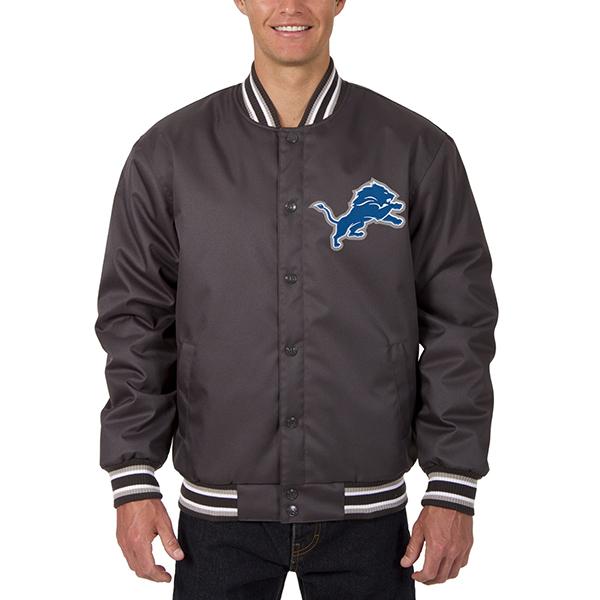 NFL ライオンズ メンズ ポリツイル ジャケット JH デザイン/JH Design グレー