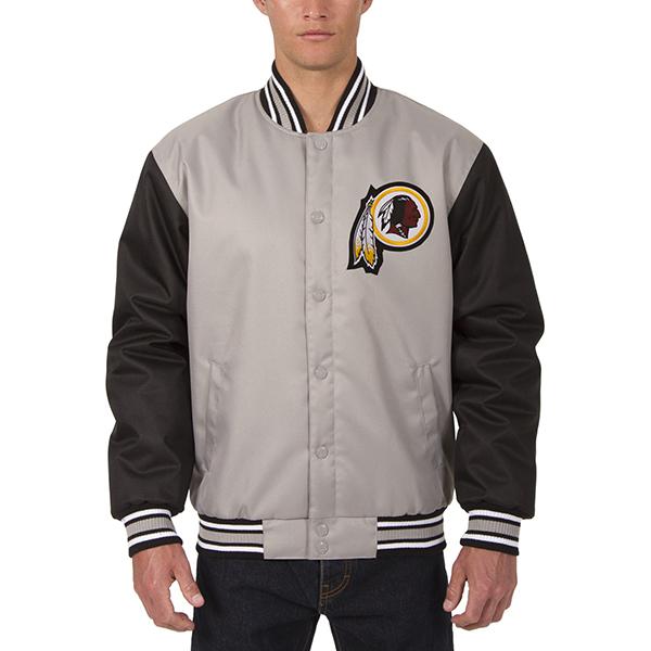お取り寄せ NFL レッドスキンズ メンズ ポリツイル ジャケット JH デザイン/JH Design グレー