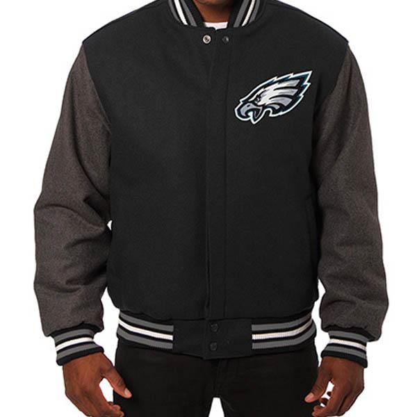 NFL イーグルス メンズ ドメスティック ツートーン ウール ジャケット JH デザイン/JH Design ブラック
