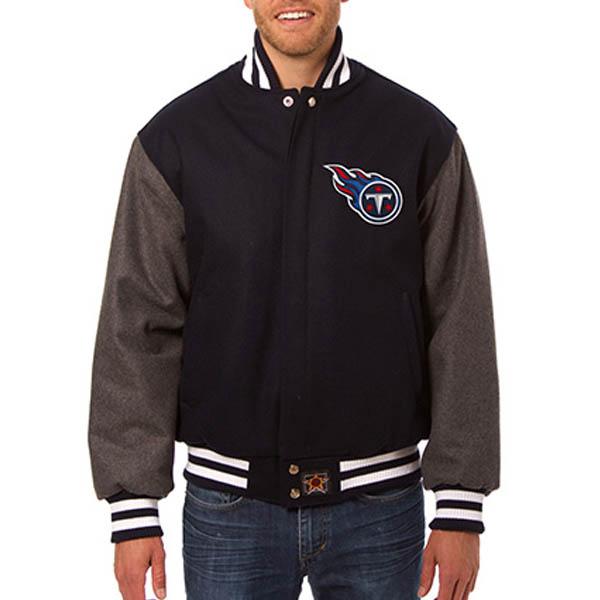 お取り寄せ NFL タイタンズ メンズ ドメスティック ツートーン ウール ジャケット JH デザイン/JH Design ネイビー