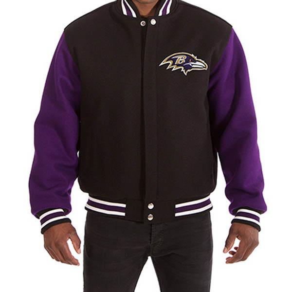 NFL レイブンズ メンズ ドメスティック ツートーン ウール ジャケット JH デザイン/JH Design ブラック