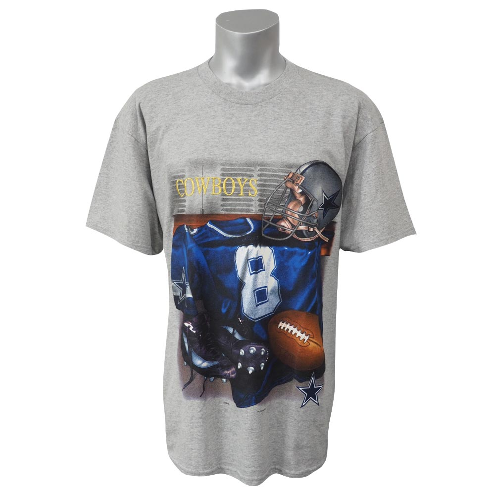 NFL カウボーイズ トロイ・エイクマン エンブロイダリー Tシャツ CSA グレー