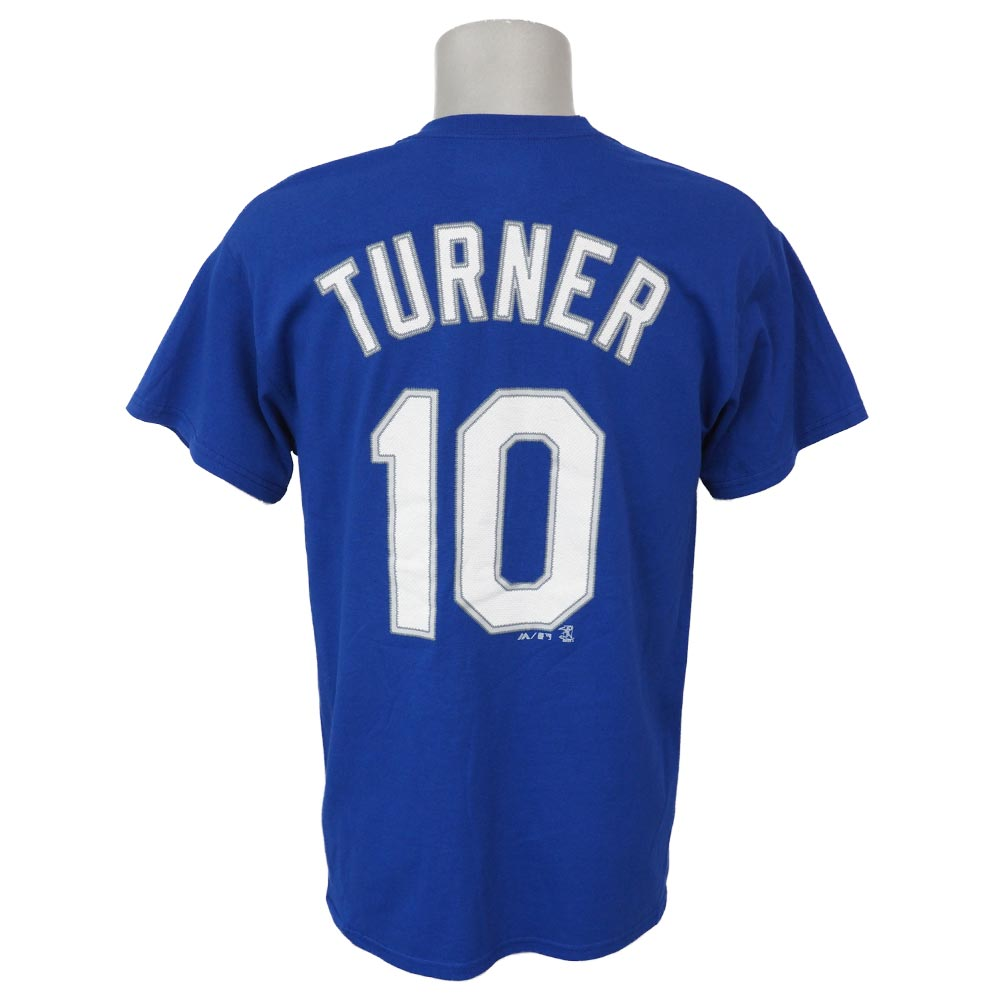 the latest 6feae 98d4e MLB Dodgers Justin Turner player T-shirt majestic /Majestic royal
