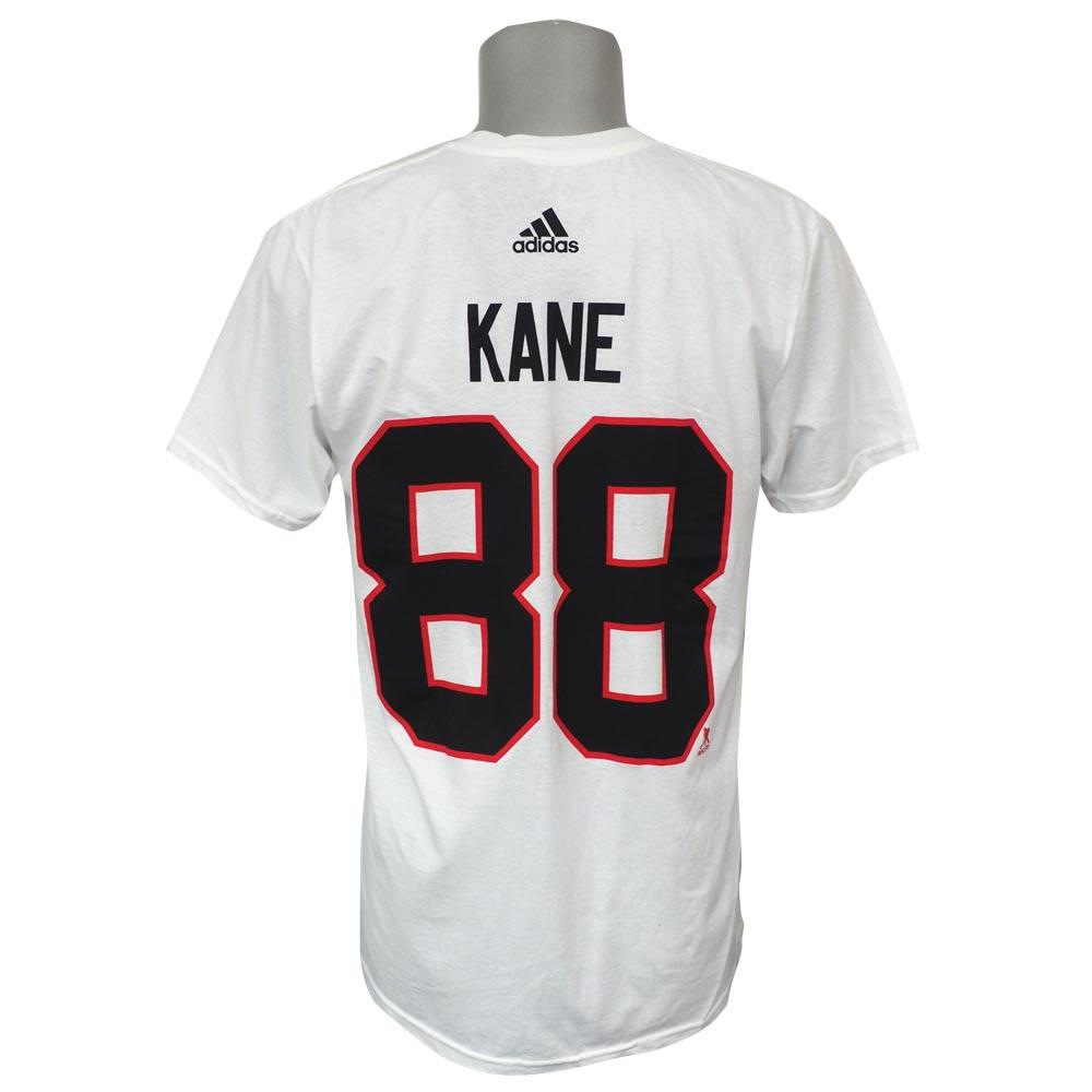 ee79f09a9 NHL Blackhawk spa trick Kane authentic silver jersey T-shirt Adidas  Adidas  white