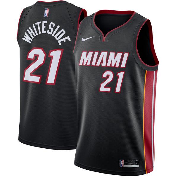 お取り寄せ NBA Nike/ナイキ ヒート ハッサン・ホワイトサイド スウィングマン ユニフォーム/ユニホーム ブラック