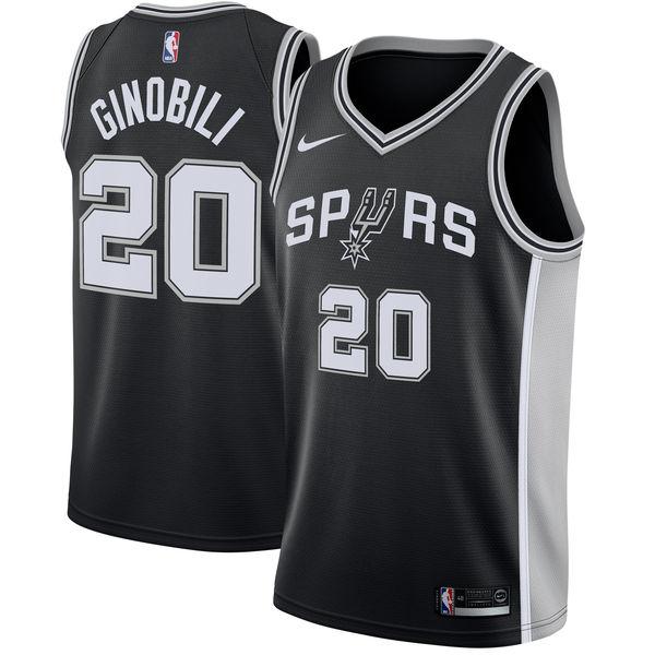 お取り寄せ NBA Nike/ナイキ スパーズ マヌ・ジノビリ スウィングマン ユニフォーム/ユニホーム ブラック