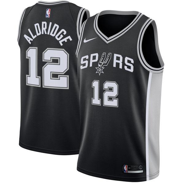 お取り寄せ NBA Nike/ナイキ スパーズ ラマーカス・オルドリッジ スウィングマン ユニフォーム/ユニホーム ブラック