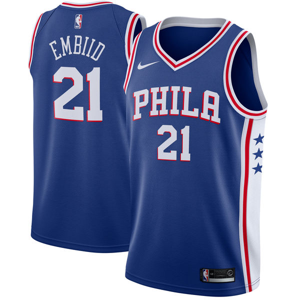 NBA Nike/ナイキ 76ers ジョエル・エンビード スウィングマン ユニフォーム/ユニホーム ブルー【1025変更】