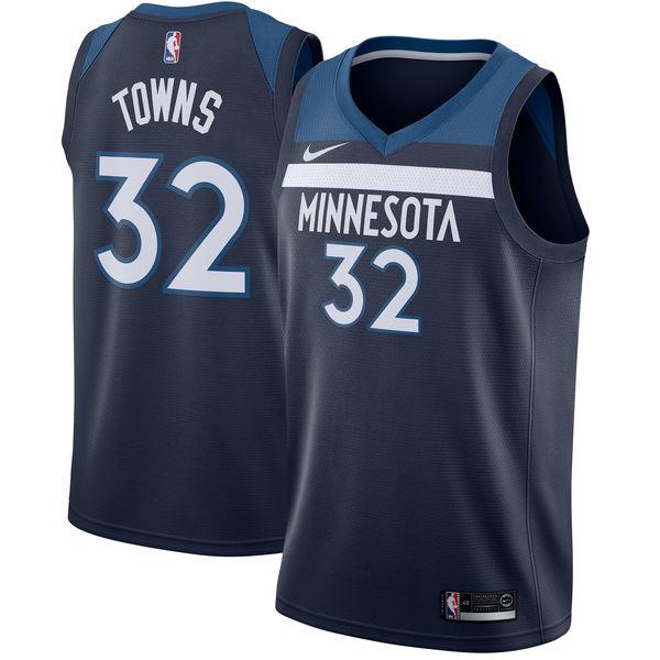 お取り寄せ NBA Nike/ナイキ ティンバーウルブズ カール=アンソニー・タウンズ スウィングマン ユニフォーム/ユニホーム ネイビー