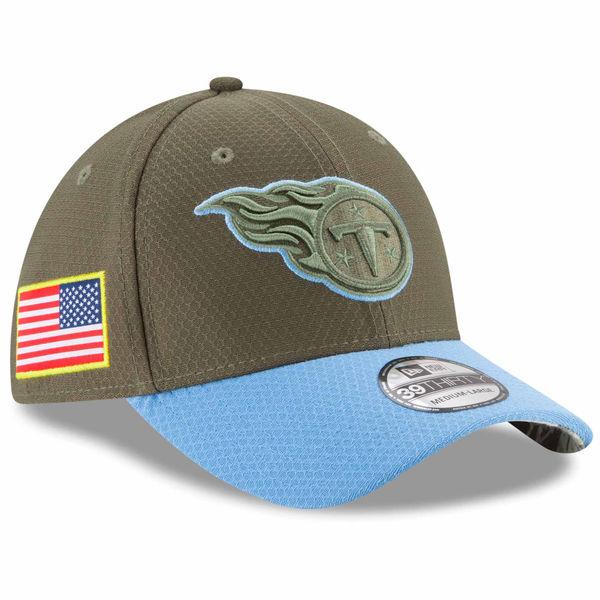NFL タイタンズ 2017 Salute To Service 39THIRTY フレックス キャップ/帽子 ニューエラ/New Era