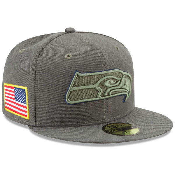NFL シーホークス 2017 Salute To Service 59FIFTY フィッテッド キャップ/帽子 ニューエラ/New Era