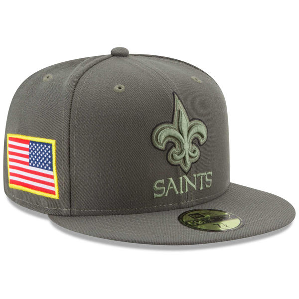 NFL セインツ 2017 Salute To Service 59FIFTY フィッテッド キャップ/帽子 ニューエラ/New Era