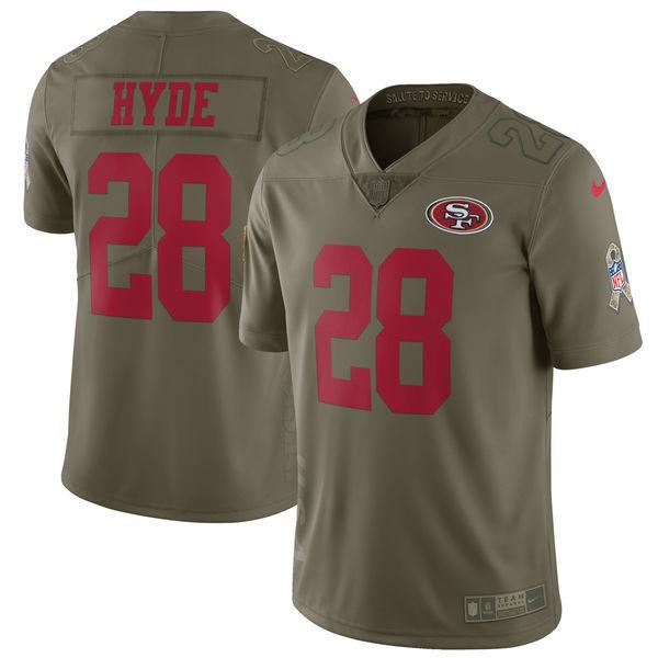 大特価 お取り寄せ NFL Salute 49ers カルロス・ハイド 2017 Salute To 2017 Service NFL リミテッド ユニフォーム/ユニホーム ナイキ/Nike, 越前町:4eb9f7dd --- canoncity.azurewebsites.net