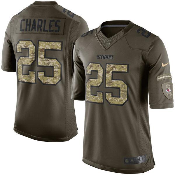 NFL チーフス ジャマール・チャールズ 2017 Salute To Service リミテッド ユニフォーム/ユニホーム ナイキ/Nike