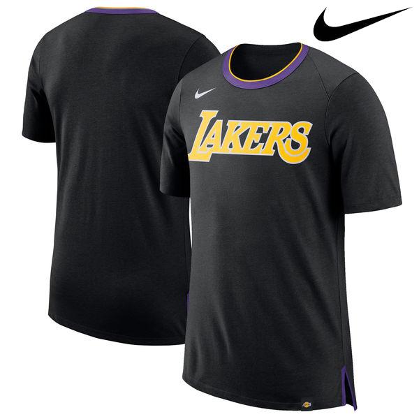 お取り寄せ NBA Nike/ナイキ レイカーズ バスケットボール ファン Tシャツ ブラック
