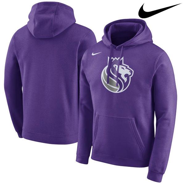 お取り寄せ NBA Nike/ナイキ キングス ロゴ クラブ パーカー パープル