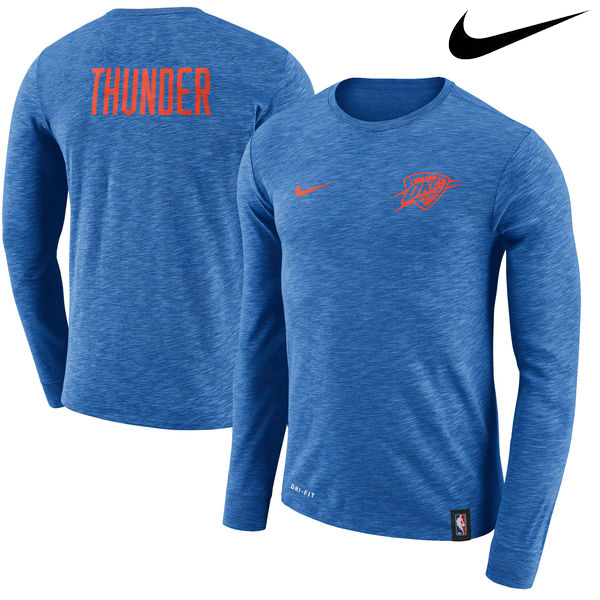 お取り寄せ NBA Nike/ナイキ サンダー ファシリティ ロングスリーブ Tシャツ ブルー