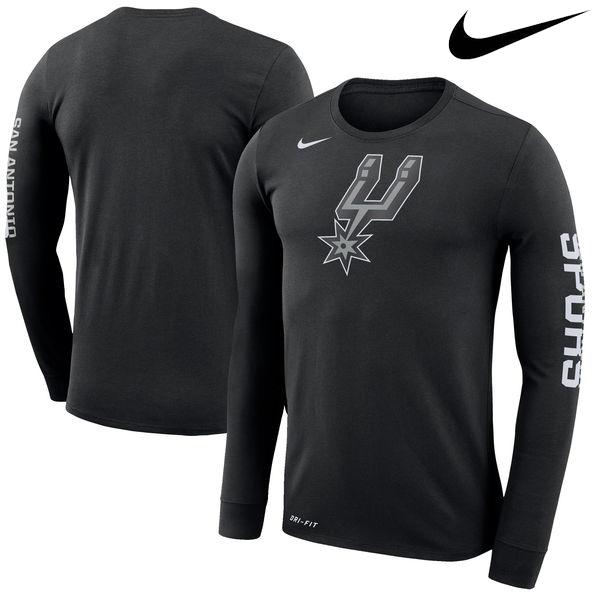 お取り寄せ NBA スパーズ ロゴ ロングスリーブ Tシャツ ナイキ/Nike ブラック