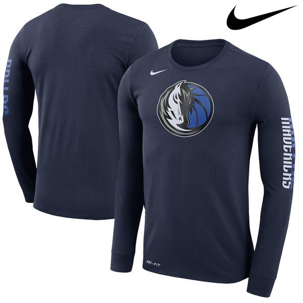 お取り寄せ NBA マーベリックス ロゴ ロングスリーブ Tシャツ ナイキ/Nike ネイビー