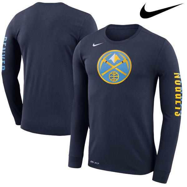 お取り寄せ NBA ナゲッツ ロゴ ロングスリーブ Tシャツ ナイキ/Nike ネイビー