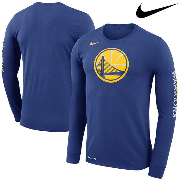 お取り寄せ NBA ウォリアーズ ロゴ ロングスリーブ Tシャツ ナイキ/Nike ロイヤル