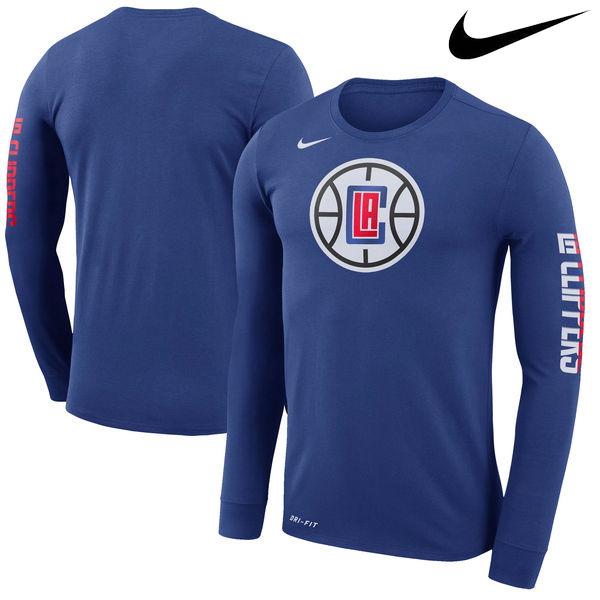 お取り寄せ NBA クリッパーズ ロゴ ロングスリーブ Tシャツ ナイキ/Nike ロイヤル