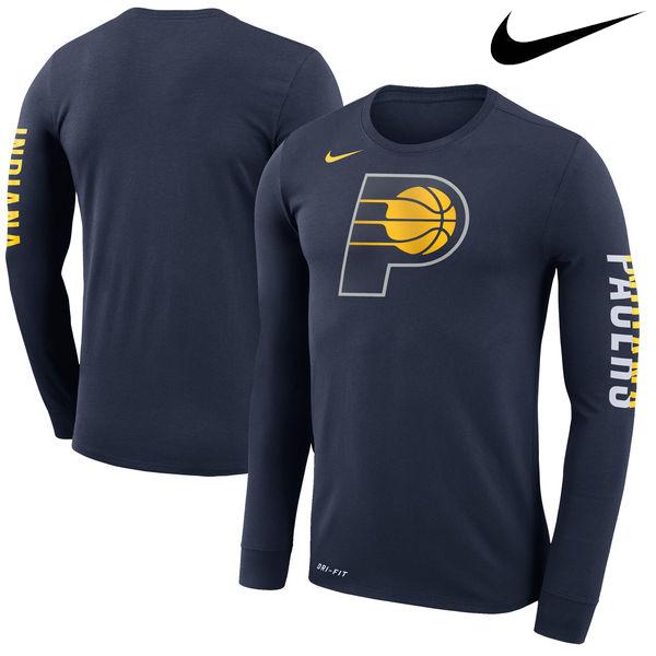 お取り寄せ NBA ペイサーズ ロゴ ロングスリーブ Tシャツ ナイキ/Nike ネイビー