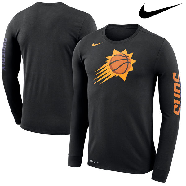 お取り寄せ NBA サンズ ロゴ ロングスリーブ Tシャツ ナイキ/Nike ブラック