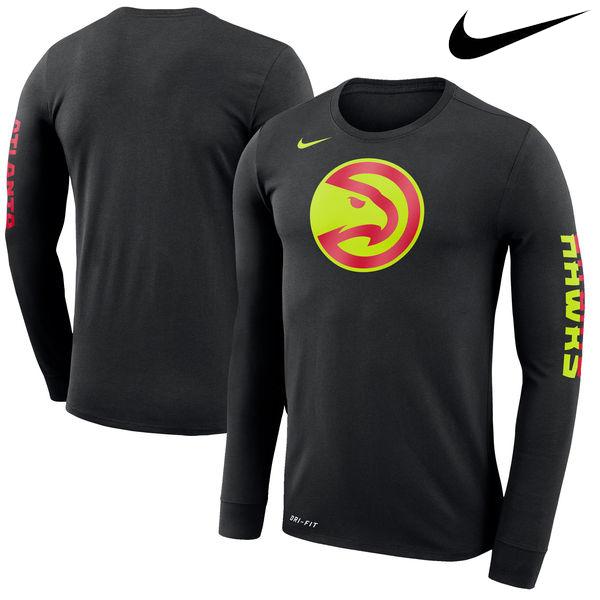 お取り寄せ NBA ホークス ロゴ ロングスリーブ Tシャツ ナイキ/Nike ブラック