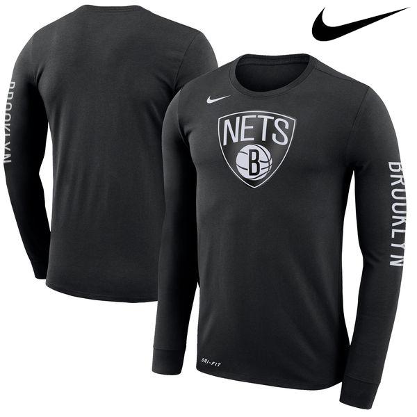 お取り寄せ NBA ネッツ ロゴ ロングスリーブ Tシャツ ナイキ/Nike ブラック