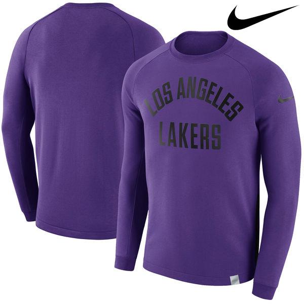 お取り寄せ NBA レイカーズ モダン クルー スウェットシャツ ナイキ/Nike パープル