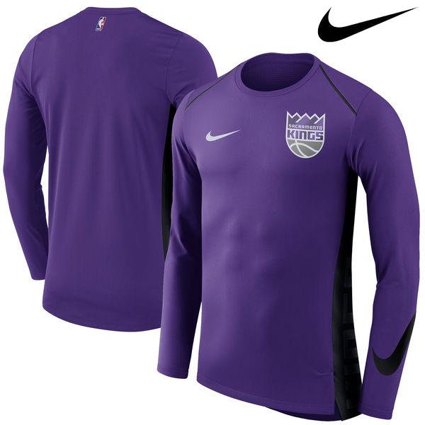 お取り寄せ NBA Nike/ナイキ キングス エリート シューター パフォーマンス ロングスリーブ Tシャツ パープル