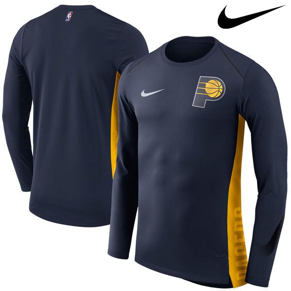 お取り寄せ NBA Nike/ナイキ ペイサーズ エリート シューター パフォーマンス ロングスリーブ Tシャツ ネイビー