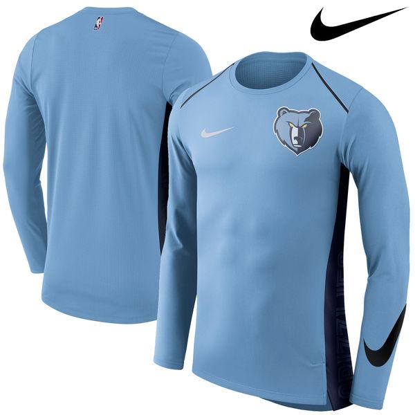 お取り寄せ NBA Nike/ナイキ グリズリーズ エリート シューター パフォーマンス ロングスリーブ Tシャツ ブルー